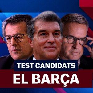 FC Barcelona eleccions test Joan Laporta Víctor Font Toni Freixa principal Barça Foto Laia Hinojosa