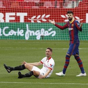 Gerard Pique De Jong Barca Sevilla EFE