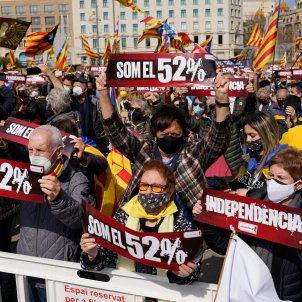 manifestación ANC plaza Catalunya 28 febrero Pau de la Calle