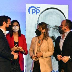 EuropaPress  pp pablo casado elecciones 14f Alejandro Fernández Eva Parera Lorena Roldán