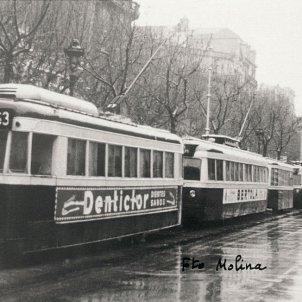 Tranvias de Barcelona. Archivo TMB