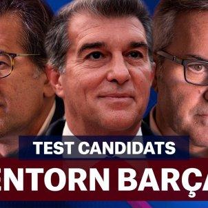 Barça eleccions test Joan Laporta Víctor Font Toni Freixa card entorn Foto Laia Hinojosa
