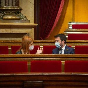Jessica Albiach Pere Aragones erc comuns parlament - europa press