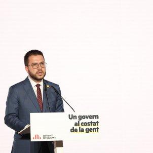 Conferencia govern ERC Pere Aragonès - Sergi Alcàzar