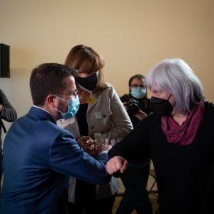 EuropaPress vicepresidente funciones generalitat pere aragones saluda candidata cup dolors sabater