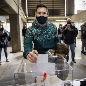 Leo Messi vota elecciones FC Barcelona