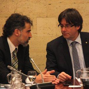 Jordi Cuixart i Carles Puigdemont ACN