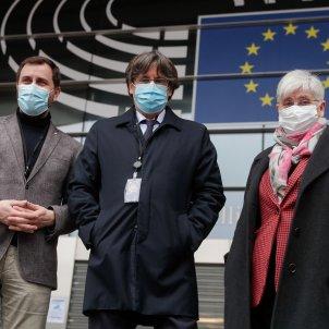 Toni Comín, Carles Puigdemont, Clara Ponsatí EFE