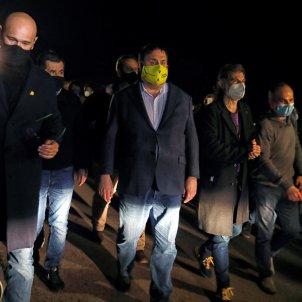 presos lledoners retirada tercer grado Romeva Sanchez Forn Cuixart Turull Junqueras - Efe