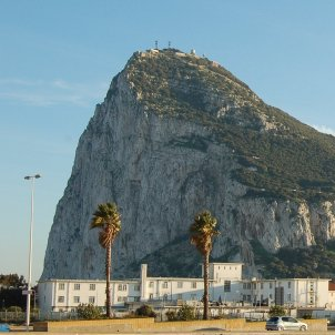 Gibraltar viewed from Spain (Greenshed)