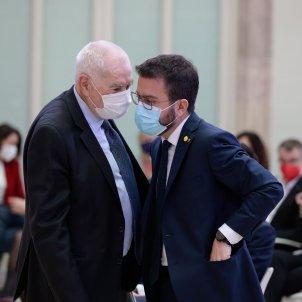 Constitución Parlament 2021 Pere Aragonès y Ernest Maragall ACN
