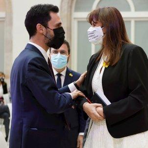 Constitución Parlament 2021 Laura Borràs y Roger Torrent EFE