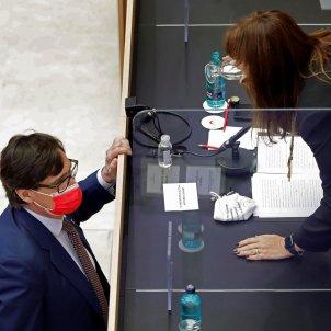 salvador illa laura borras parlament - efe