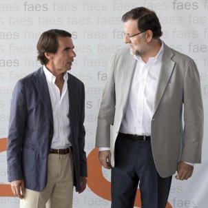 expresidentes del Gobierno Jose Maria Aznar y Mariano Rajoy cita anual campus faes - Europa Press