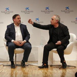 Oriol Junqueras, Jordi Basté i Ferran Adrià/ Sergi Alcázar