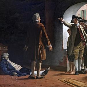 Representació de la falsa acusació contra Jan Calas (1879). Font Museu de la Vella Tolosa