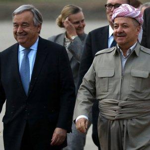 Antonio Guterres  región iraquí de Kurdistan Masoud Barzani EFE