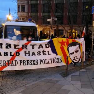 Manifestació Berlín Hasél @antirepresiva