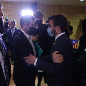 Conferencia Junts  Jordi Sànchez Pere Aragonès Govern / Sergi Alcàzar
