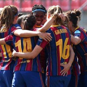 Celebracion Barca Womens Champions League EFE