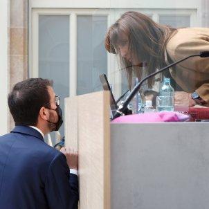 Pere Aragonès Laura Borràs debat investidura Pool Efe