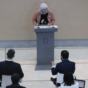 Dolors Sabater durante la intervención en el pleno de investidura 3 / Sergi Alcàzar