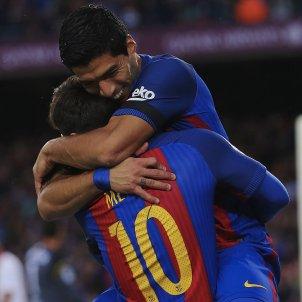 Luis Suarez Leo Messi celebracio gol Barça EFE