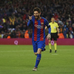 Leo Messi celebracio gol Sevilla EFE