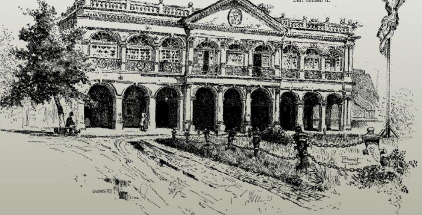 Residència del governador Miró a Nova Orleans (segle XVIII). Font Terry L. Jones. The Louisiana Journey
