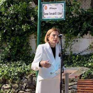 Carme forcadell plaza homenaje almoster / @Irenemont_roig