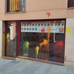 Ataque sede PSC Balaguer / ACN