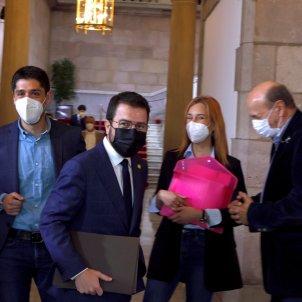 David Cid, Pere Aragonès, Jèssica Albiach debate investidura EFE
