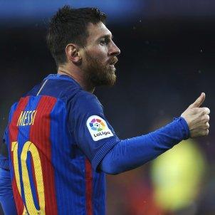 Leo Messi celebracio gol Barça Sevilla EFE