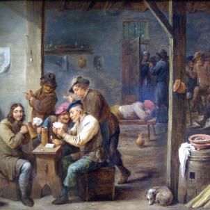 Escena de taverna (1658), obra de David Teniers. Font Palacio Real de Madrid