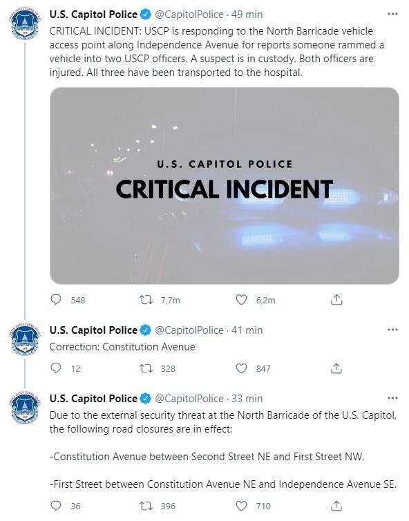 #EnVivo Cierran el Capitolio en Washington por amenaza de seguridad