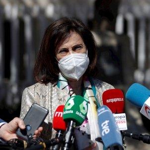 La ministra de Defensa, Margarita Robles vacunas ejército / EFE