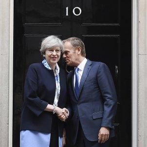 Theresa May Donald Tusk Londres - EFE