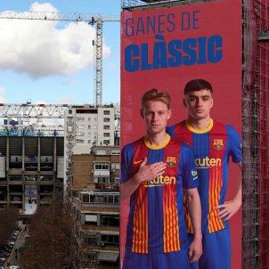 Pancarta De Jong Pedri Clasico @FCB