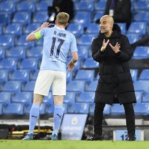 Pep Guardiola De Bruyne Manchester City Champions EFE
