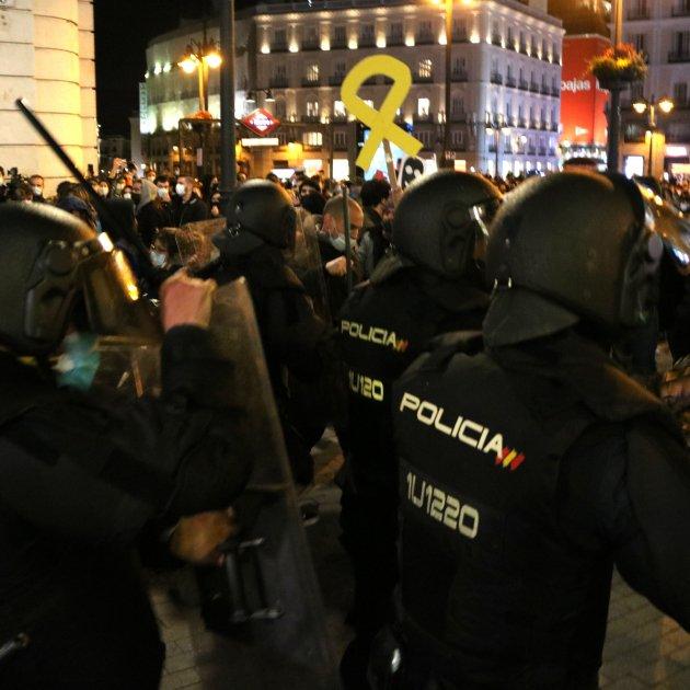 policia carrega madrid ACN