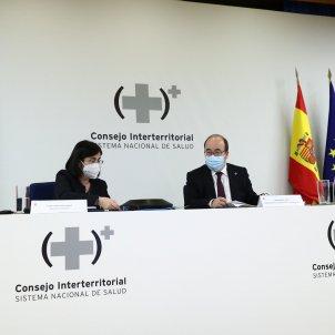 Darias e Iceta en Consejo Interterritorial propuesta suspener AstraZeneca 07/04/2021 / EFE