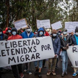 EuropaPress protesta inmigrants las raices canaries tenerife