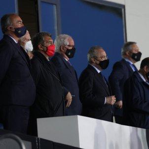 Joan Laporta Florentino Perez Barca Real Madrid palco Alfredo Di Stefano EFE