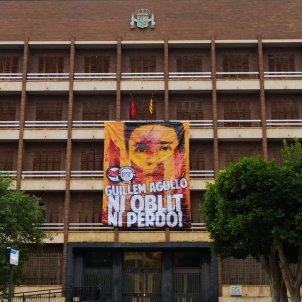 guillem agullo pancarta 28 años asesinato juzgados castellón / Brigades Antifeixistes Castelló
