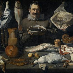Test 123. La cuina catalana de 1700. Representació pictòrica d'un cuiner (circa 1625). Anonim. Font Museu Boymans Van Beuningen. Rotterdam
