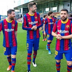 Messi Piqué Jordi Alba / FC Barcelona