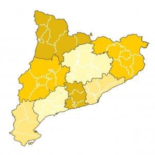 Mapa vegueries catalunya sense text - el Nacional
