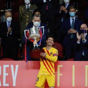 Messi rey Felipe VI Barca EFE