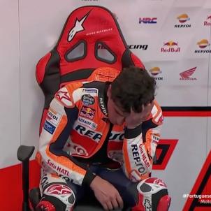 Marc Marquez llora Portugal GP @Dazn