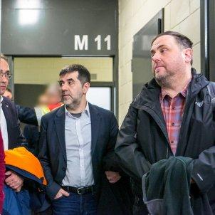 Jordi Cuixart, Josep Rull, Jordi Sànchez, Oriol Junqueras TRASLADO A MADRID POR EL 1-O / ACN